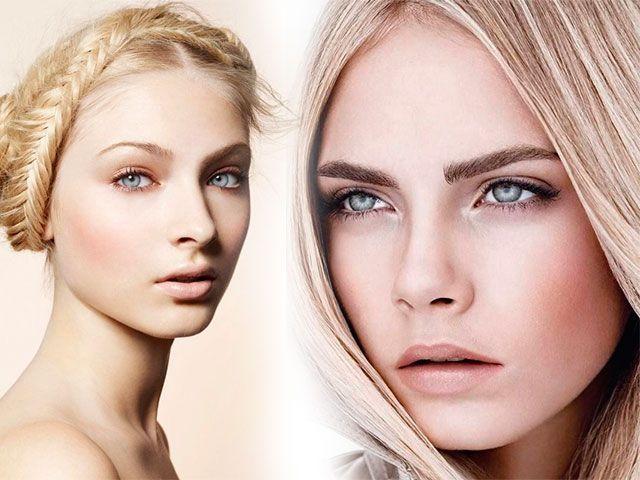 Денний та вечірній макіяж для сірих очей