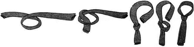 Як зав`язати жіночий галстук - покрокове фото