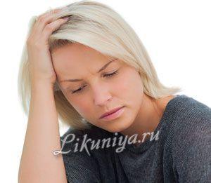 Стурбована проблемою жінка