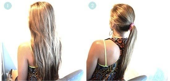 швидкий пучок на довге волосся