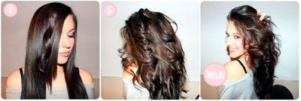 кучері за допомогою прасування на довге волосся