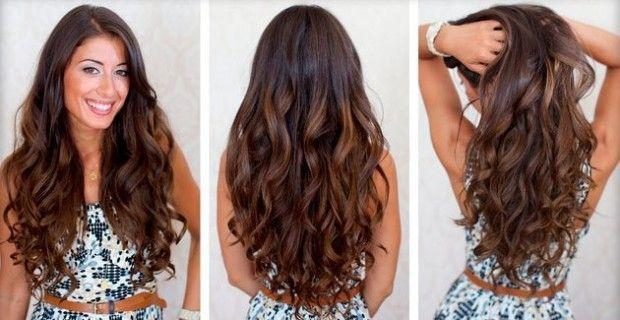 локони на довге волосся
