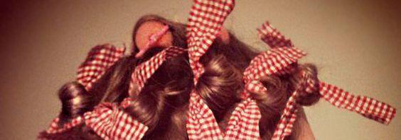 завивка волосся на ганчірочки
