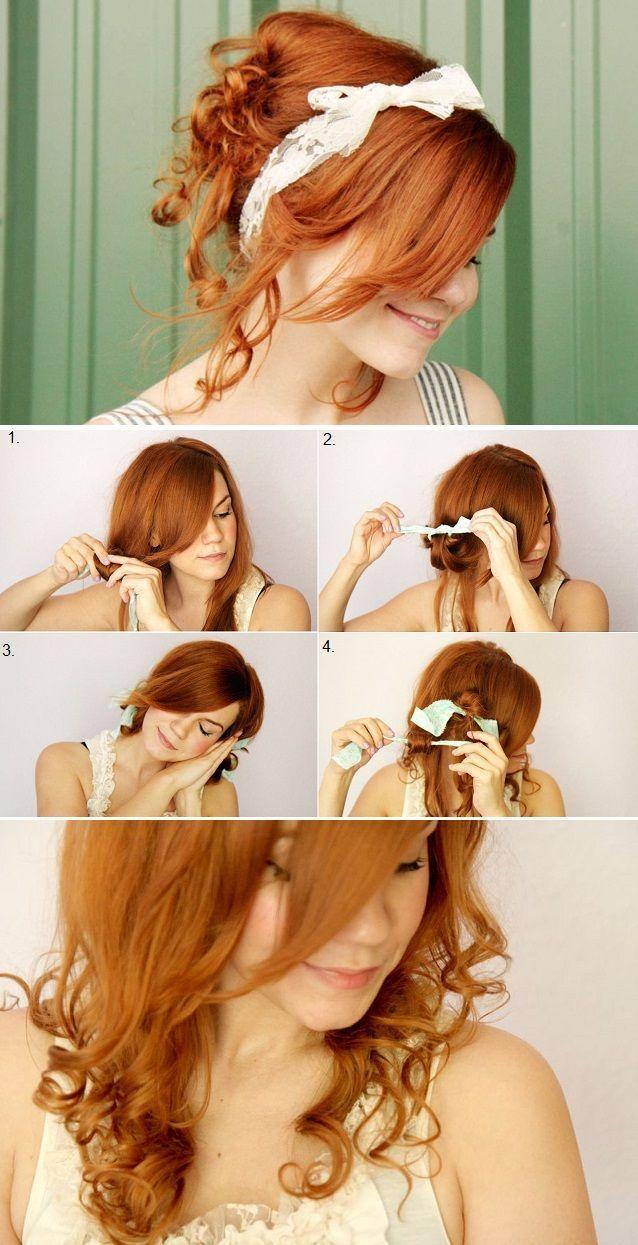 робимо зачіску за допомогою ганчірок