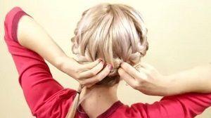 Зачіска в формі кошики