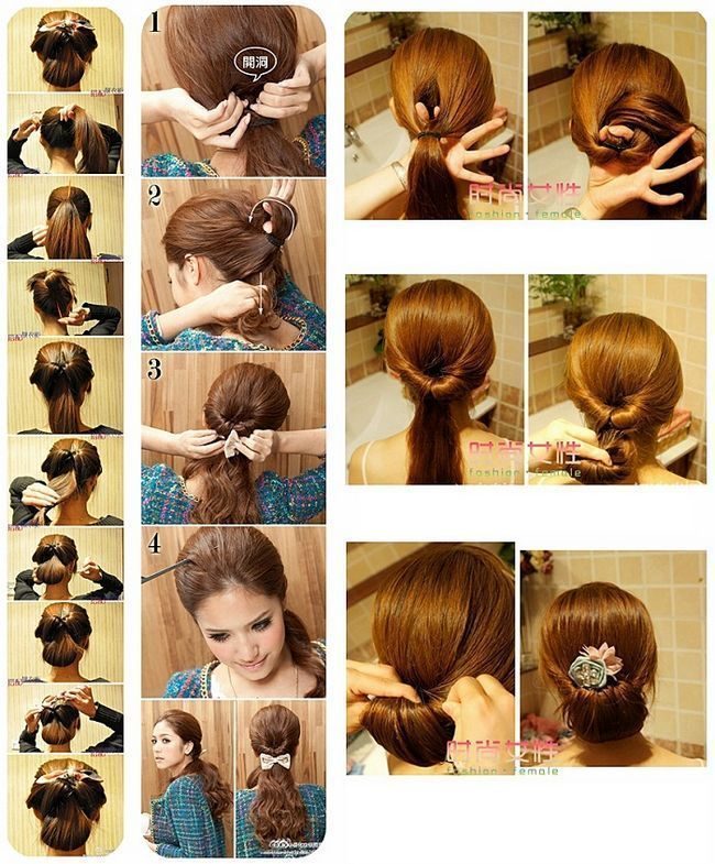 Зачіска для дівчинки з хвостом