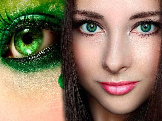 Гарний вечірній макіяж для зелених очей покроково фото