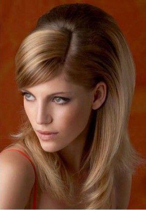 Вечірні зачіски на середнє волосся з чубчиком