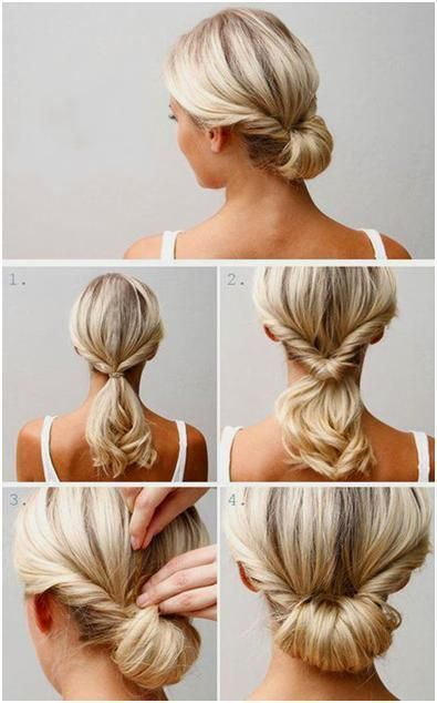 Швидка зачіска для середнього волосся