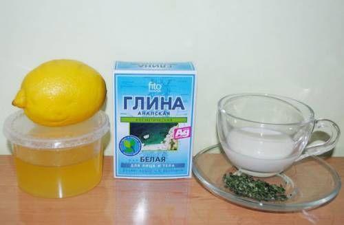 Мед, глина і лимон