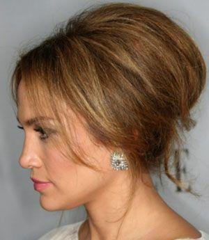 Високі зачіски на середні волосся