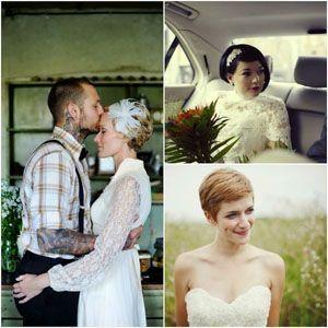 Весільна зачіска на коротке волосся