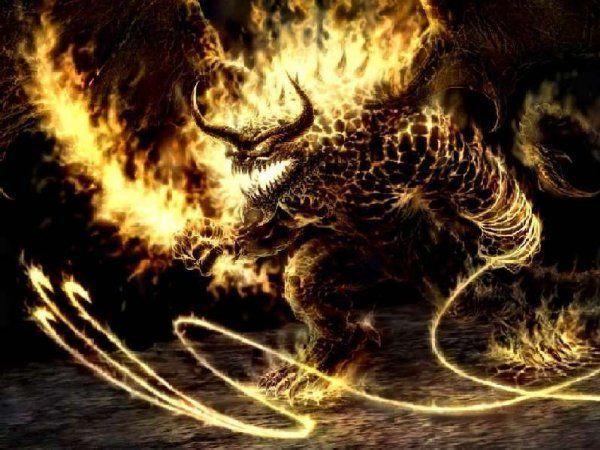 На фото приклад демонічних істот, з якими йде одвічна боротьба
