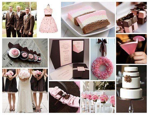 Яскраві акценти шоколадної весілля. Фото з сайту vk.com