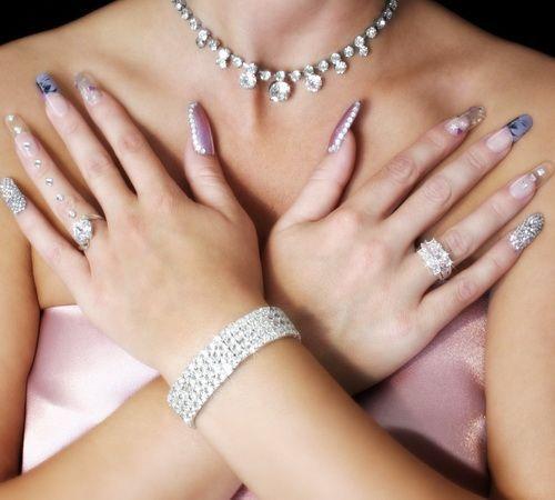 Весільні нігті - 50 кращих варіантів