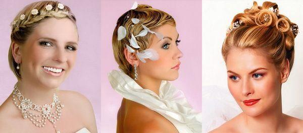 Варіанти весільні зачіски на коротке волосся. Фото з сайту berry-girl.ru