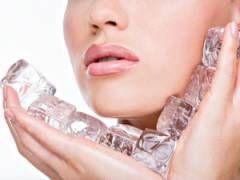 Кубики льоду для шкіри обличчя
