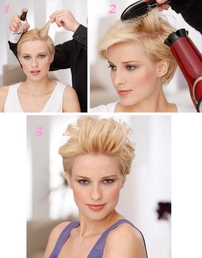 укладка короткого волосся вечірня зачіска фото