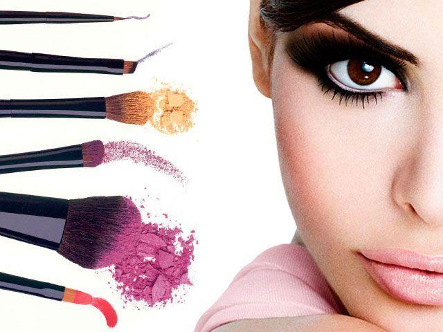 Вечірній макіяж для карих очей покрокове фото