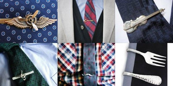 Оригінальні варіанти затискачів для краватки. Фото з сайту shop-usa.livejournal.com