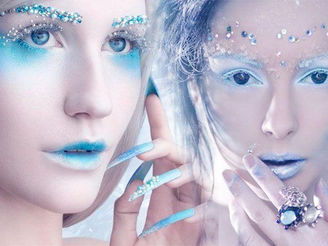 Зимовий дизайн нігтів фото